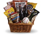 Take Me Out to the Ballgame Basket in Mountain View AR, Mountain Flowers & Gifts