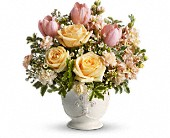 Teleflora's Peaches and Dreams in Huntington Beach CA, A Secret Garden Florist