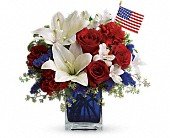 America the Beautiful by Teleflora in West Memphis AR, A Basket Of Flowers & Gifts LLC