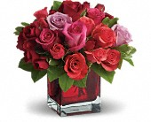 Madly in Love Bouquet with Red Roses by Teleflora in Pella IA, Thistles