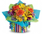 Teleflora's Rainbow Present in Woodbridge NJ, Floral Expressions