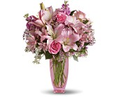 Teleflora's Pink Pink Bouquet with Pink Roses in Ukiah CA, Rain Forest Fantasy