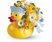 Teleflora's Ducky Delight - Boy in San Bruno CA, San Bruno Flower Fashions