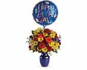Fly Away Birthday Bouquet in Kingsport TN, Rainbow's End Floral