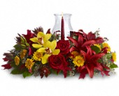 Glow of Gratitude Centerpiece in Sault Ste Marie ON, Flowers By Routledge's Florist