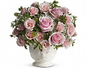 Teleflora's Parisian Pinks with Roses in Burlington WI, gia bella Flowers and Gifts