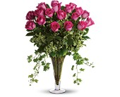 Dreaming in Pink - Long Stemmed Pink Roses in Bluffton IN, Posy Pot