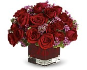 Never Let Go by Teleflora - 18 Red Roses in Jamesburg NJ, Sweet William & Thyme
