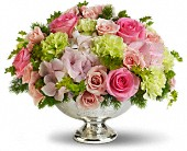 Teleflora's Garden Rhapsody Centerpiece in Aston PA, Wise Originals Florists & Gifts