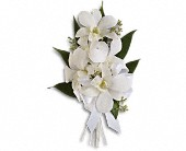 Graceful Orchids Corsage in Mount Morris MI, June's Floral Company & Fruit Bouquets