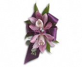 Exquisite Orchid Wristlet in Mount Morris MI, June's Floral Company & Fruit Bouquets