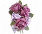 Soft Lavender Corsage in Peoria, Illinois, Flowers & Friends Florist