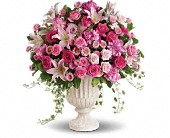 Passionate Pink Garden Arrangement in Lewiston, Maine, Val's Flower Boutique, Inc.