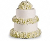 Sweet White Cake Decoration in San Clemente CA, Beach City Florist