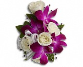 Fancy Orchids and Roses Wristlet in Aylmer ON, The Flower Fountain