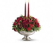 Teleflora's Mercury Glass Bowl Bouquet in Waldron AR, Ebie's Giftbox & Flowers