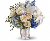 Teleflora's Seaside Centerpiece in San Jose CA, Rosies & Posies Downtown