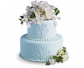 Sweet Pea and Roses Cake Decoration in New Glasgow, Nova Scotia, Zelda's Flower Studio