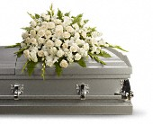 Silken Serenity Casket Spray in Muskegon MI, Wasserman's Flower Shop