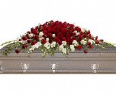 Garden of Grandeur Casket Spray in Marion, Illinois, Fox's Flowers & Gifts
