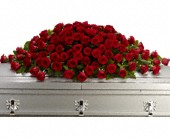 Greatest Love Casket Spray in East Quogue NY, Roses And Rice
