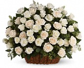 Bountiful Rose Basket in Sweeny TX, Wells Florist, Nursery & Landscape Co.