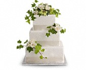 Roses and Ivy Cake Decoration in Traverse City, Michigan, Cherryland Floral & Gifts, Inc.
