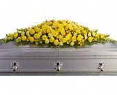 Golden Garden Casket Spray in Edmonton AB, Petals For Less Ltd.