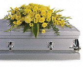 Graceful Grandeur Casket Spray in New Ulm MN, A to Zinnia Florals & Gifts