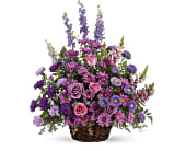 Gracious Lavender Basket in Deer Park, New York, Family Florist