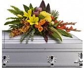 Island Memories Casket Spray in Houston TX, Cornelius Florist