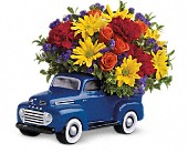 Teleflora's '48 Ford Pickup Bouquet in Manalapan NJ, Rosie Posies