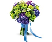 Luxe Lavender and Green Bouquet in Mount Morris MI, June's Floral Company & Fruit Bouquets