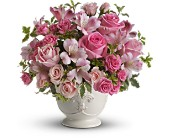 Teleflora's Pink Potpourri Bouquet with Roses in Huntington Beach CA, A Secret Garden Florist