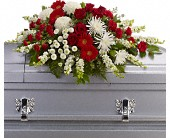 Strength and Wisdom Casket Spray in Jacksonville FL, Deerwood Florist