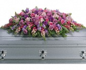 Lavender Tribute Casket Spray in Tillsonburg ON, Margarets Fernlea Flowers & Gifts
