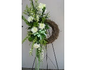 Wreath of White in Katy TX, Kay-Tee Florist on Mason Road