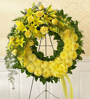 1800Flowers Monochromatic Sympathy Wreath in Woodbridge VA, Lake Ridge Florist