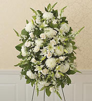 1800Flowers All-White Sympathy Standing Spray in Woodbridge VA, Lake Ridge Florist