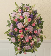 1800Flowers All-Pink Sympathy Standing Spray in Woodbridge VA, Lake Ridge Florist