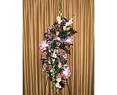 Fresh Cross Funeral Easel in Kentwood LA, Glenda's Flowers & Gifts, LLC