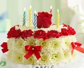 Birthday Flower Cake� Bright in Colorado Springs CO, Sandy's Flowers & Gifts