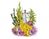 Teleflora's Crystal Cross Bouquet in Wichita Falls TX, Autumn Leaves