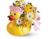 Teleflora's Ducky Delight - Girl in Brooklyn NY, Artistry In Flowers