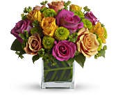 Teleflora's Color Me Rosy Bouquet in Ammon ID, Petal Passion