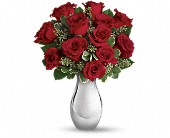 Teleflora's True Romance Bouquet with Red Roses in Pella IA, Thistles