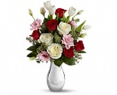 Teleflora's Love Forever Bouquet with Red Roses in Huntington Beach CA, A Secret Garden Florist