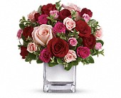 Teleflora's Love Medley Bouquet with Red Roses in Rush NY, Chase's Greenhouse