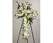 Cross Of White in Katy, Texas, Kay-Tee Florist on Mason Road