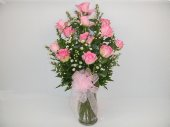 One dozen pink roses in Camden AR, Camden Flower Shop